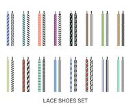 Shoelaces Modern Colored Pairs Collection Royalty Free Stock Images