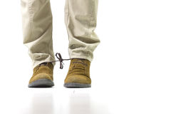 Shoelaces prank Stock Photography