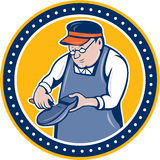 Shoemaker Cobbler Circle Cartoon Royalty Free Stock Photography
