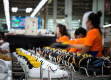 Shoemaker Factory Royalty Free Stock Photo