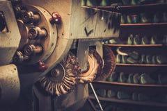 Shoemaker studio craft polishing machines. Stock Photos