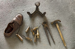 Shoemaker Tools Royalty Free Stock Photo