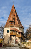Shoemaker Tower, Sighisoara Royalty Free Stock Photography