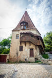 Shoemakers tower (Turnul Cizmarilor) part of  Sighisoara fortres Stock Image