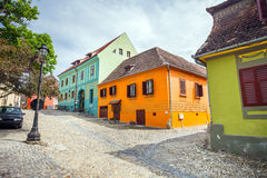 Shoemakers tower (Turnul Cizmarilor) part of  Sighisoara fortres Stock Photo