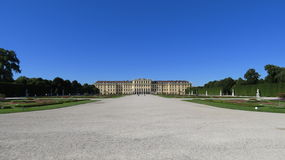 Shoenbrunn Palace Vienna. Part of the Shoenbrunn Palace in Vienna.  Only one part of the massive facility Stock Photos
