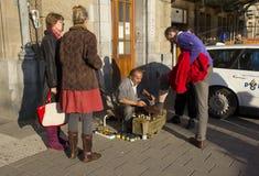 Shoepolish na central de Amsterdão Fotografia de Stock