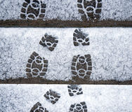 Shoeprints Images libres de droits