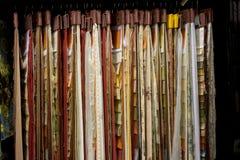 Shoeroom de la materia textil imagenes de archivo