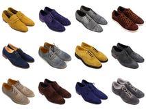Shoes-1 degli uomini del camoscio Fotografia Stock Libera da Diritti