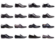 Shoes-1 degli uomini scuri Fotografie Stock