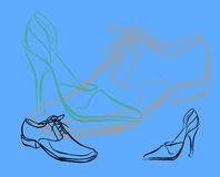 Shoes. Illustration Stock Photography