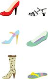 Shoes. Illustration of shoes on white Stock Image