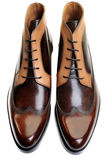 Shoes. Classic mens leather footwear isolated on white Stock Image