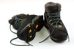 Shoes. Winter warm boots on a white background Stock Image