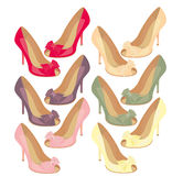 Shoes. The image of female shoes.  A vector illustration Royalty Free Stock Photo