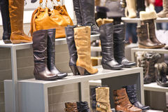 Shoes. Shop in a mall Stock Photos