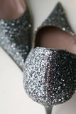 Shoes. Elegant and glitter high-heeled shoes Stock Photo