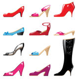 Shoes. Icons over white background vector illustration