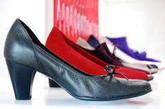 Shoes. Woman shoes isolated with different color Royalty Free Stock Photos
