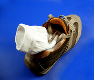 Shoes...(2). Here is a shoe with a sock inside Royalty Free Stock Photo