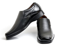 Shoes. Black men shoes on background Royalty Free Stock Photography