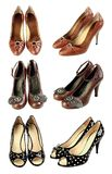 Shoes. Three pairs of womens shoes Royalty Free Stock Photos