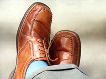 Shoes. Brown shoes to the suit Stock Images
