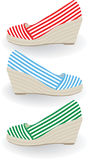 Shoes. Set of shoes. Vector illustration Stock Images
