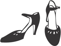 Shoes. Pair of shoes, retro-style illustration Stock Photos