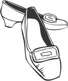 Shoes. Pair of shoes, retro-style illustration Stock Photo