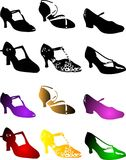 Shoes. Vector illustration for a variety of shoes in style Stock Photography