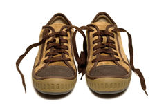 Shoes. The pair of isolated shoes Royalty Free Stock Photography