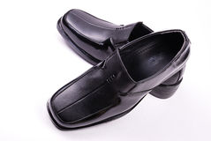 Shoes. Black shoes in isolated background Royalty Free Stock Images