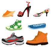 Shoes. Set of shoes for men and women Stock Image