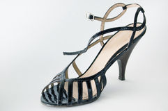 Shoes. Female footwear on a heel with a fastener stock image
