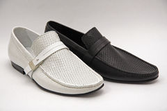 Shoes. Black and white men shoes Stock Image