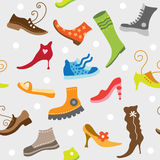 Shoes. The image of various footwear Royalty Free Stock Image