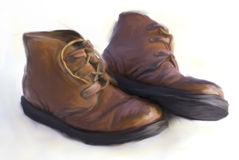 Shoes. Digital painting: pair of old shoes Royalty Free Stock Photography