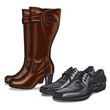 Shoes And Boots Stock Images