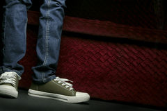 Shoes And Jeans Stock Images