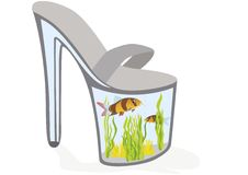 Shoes - aquarium Royalty Free Stock Photography