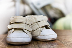 Shoes for babies Royalty Free Stock Photo