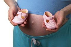 Shoes for a baby Royalty Free Stock Image