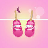 Shoes for baby female Royalty Free Stock Images