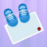Shoes for baby. Illustration of baby shoes for male Royalty Free Stock Photography