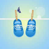 Shoes for baby male. Illustration of shoes for baby male Royalty Free Stock Photography