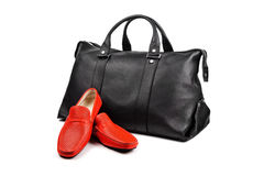Shoes and bag-3 Stock Photos