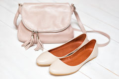 Shoes and bag Royalty Free Stock Photography