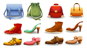 Shoes and bags Royalty Free Stock Image